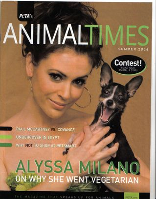 Alyssa Milano - Peta´s Animal Times Magazine [United States] (July 2006)