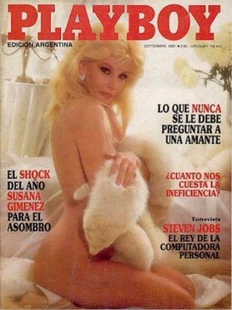 Susana Giménez - Playboy Magazine Cover [Argentina] (September 1985)