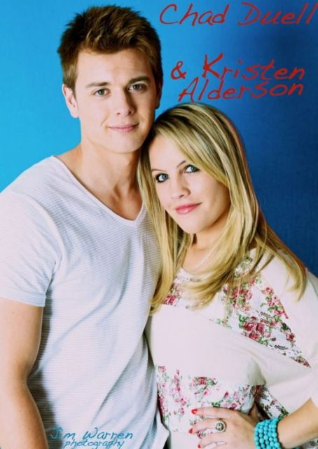 Chad Duell  and Kristen Alderson