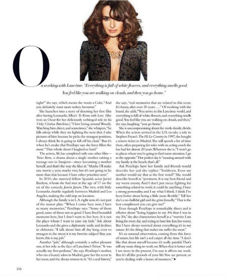 Terry Richardson Penelope Cruz Harper's Bazaar US May 2012