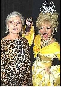 Linda Hart  and Debbie Harry backstage at 'Hairspray