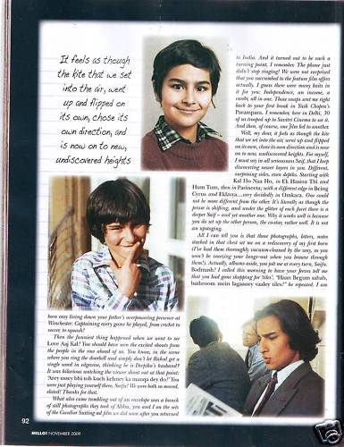 Saif Ali Khan  Hello India November 2009