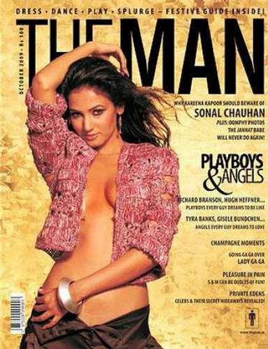 Sonal Chauhan  The Man India October 2009