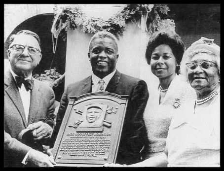 Jackie Robinson Branch Rickey  with  & Family at Jackie's induction into The Baseball Hall of Fame