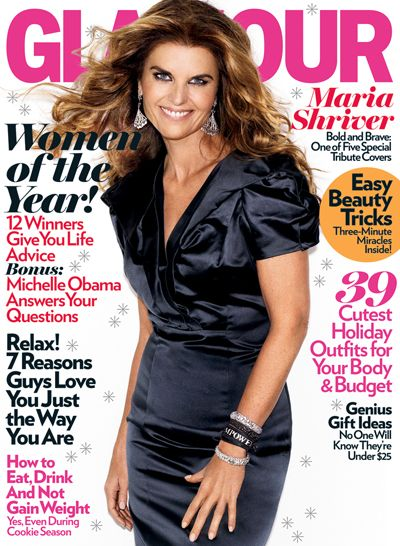 Maria Shriver - Glamour Magazine [United States] (December 2009)