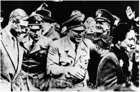 Adolf Hitler - The Duke and the Duchess with Hitler & members of the Nazi party on their tour of Germany, 1937.