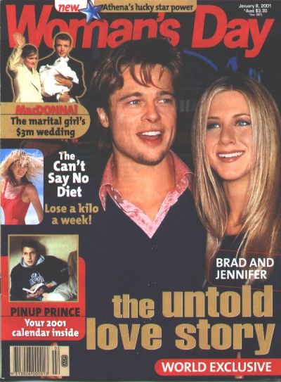 Brad Pitt - Woman's Day Magazine [Australia] (8 January 2001)