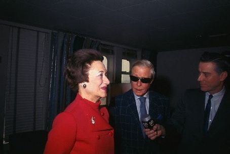 Duchess of Windsor - The Duke and Duchess aboard the S.S. United States during a press conference in December 1967.