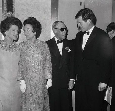 Rose Kennedy The Duke and Duchess with  and Edward Kennedy at an afterparty following the film premiere of 'A King's Story', May 24, 1967.