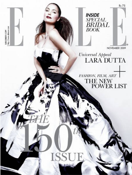 Lara Dutta  Elle India November 2009