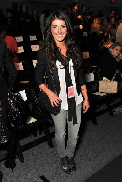 Shenae Grimes attends the Tracy Reese Fall 2012 fashion show