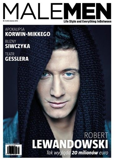 Robert Lewandowski - MaleMEN Magazine Cover [Poland] (March 2012)